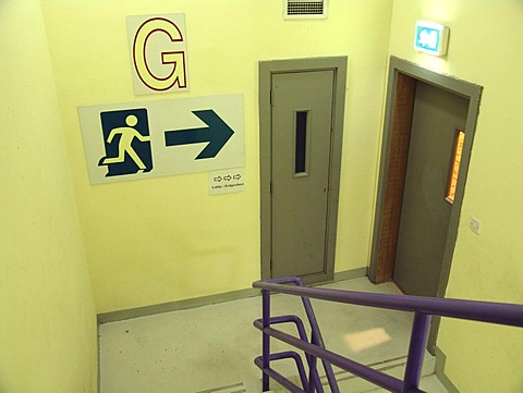 Stairwell, emergency exit