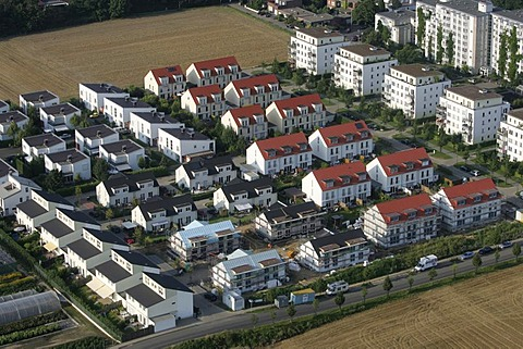 Private homes, row houses, Cologne, North Rhine-Westphalia, Germany