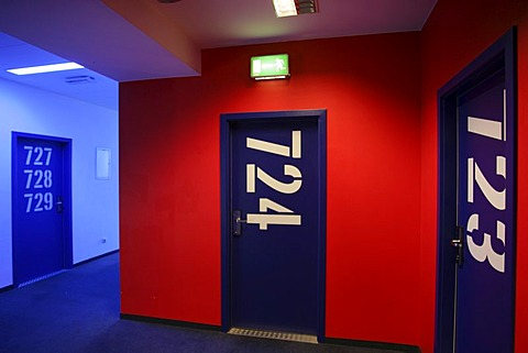 "Room number labelling, ""Generator"" Hostel, Berlin, Germany"