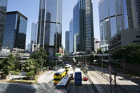 City traffic, Queensway, Hongkong, China