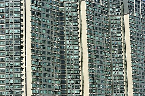 Apartments, Flats, high rise buildings, Kwai Chung, Kowloon, Honkong, China