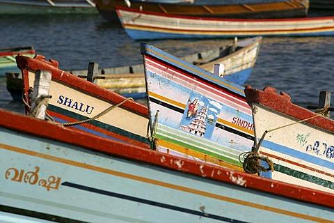 IND, India, Kerala, Trivandrum : Fishing village Vizhnijam, south of Trivandrum. Base for many fishermen and their boats. Fish market.  