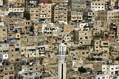 Houses in the Basman district, Amman, Jordan