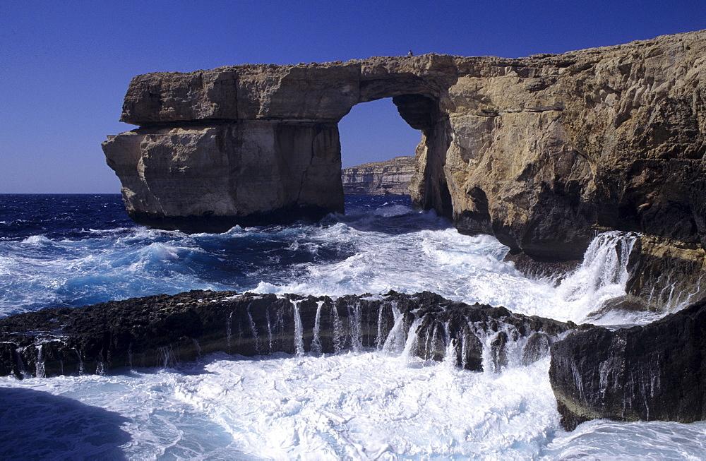Southwestern coastline, Dwejra Bay, Azure Window, Gozo island, Malta