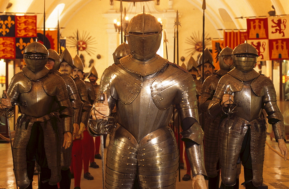 Grandmaster's Palace, armors in the Armoury, Valletta, Malta