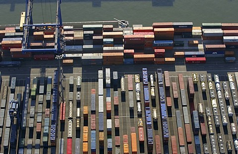 Container port, Logport, Dusiburg, North Rhine-Westphalia, Germany - 832-313709