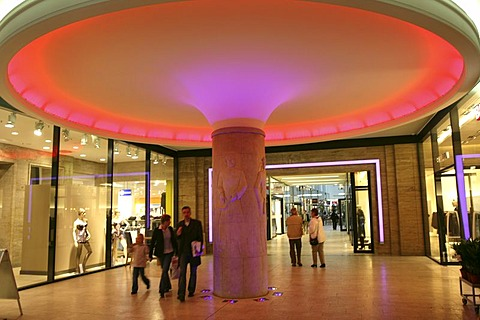 Messehof-Passage, shopping center, Leipzig, Saxony, Germany