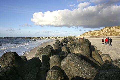 DEU, Germany : North Sea island Sylt, coastal protection. |