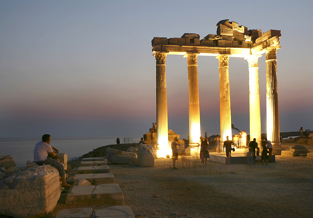TUR Turkey Side Turkish riviera coast. Ruins of the Apollon Temple
