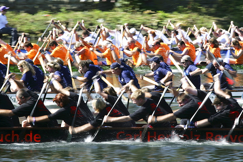 DEU Germany Muelheim Dragon boat race on the river Ruhr