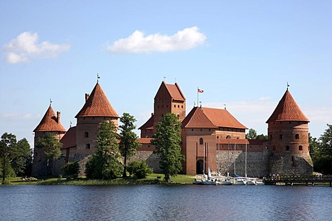 Trakai Island Castle, landmark of Lithuania, Trakai, Lithuania, Baltic States, Northeastern Europe