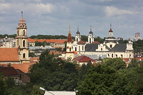 City panorama over the historic city centre of Vilnius, Lithuania, Baltic States, Northeastern Europe