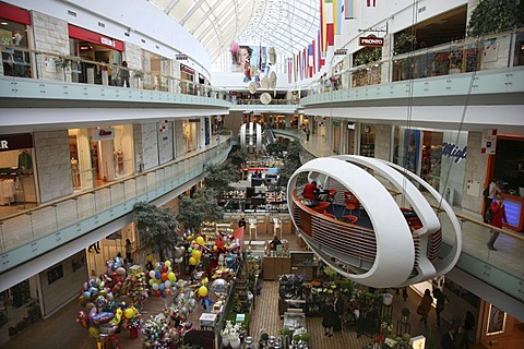 Europos Centre interior view, a shopping complex, office buildings, business district, and recreation and entertainment area in Vilnius, capital of Lithuania, Baltic States, North East Europe