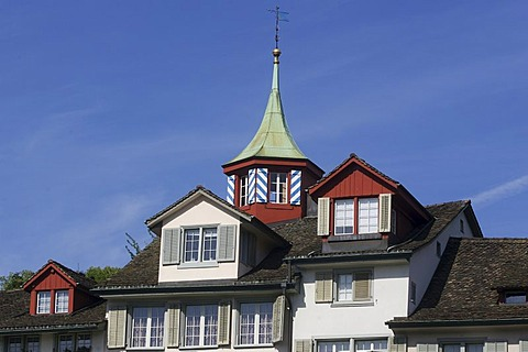 House facade at the Schipfe in Zurich, Switzerland