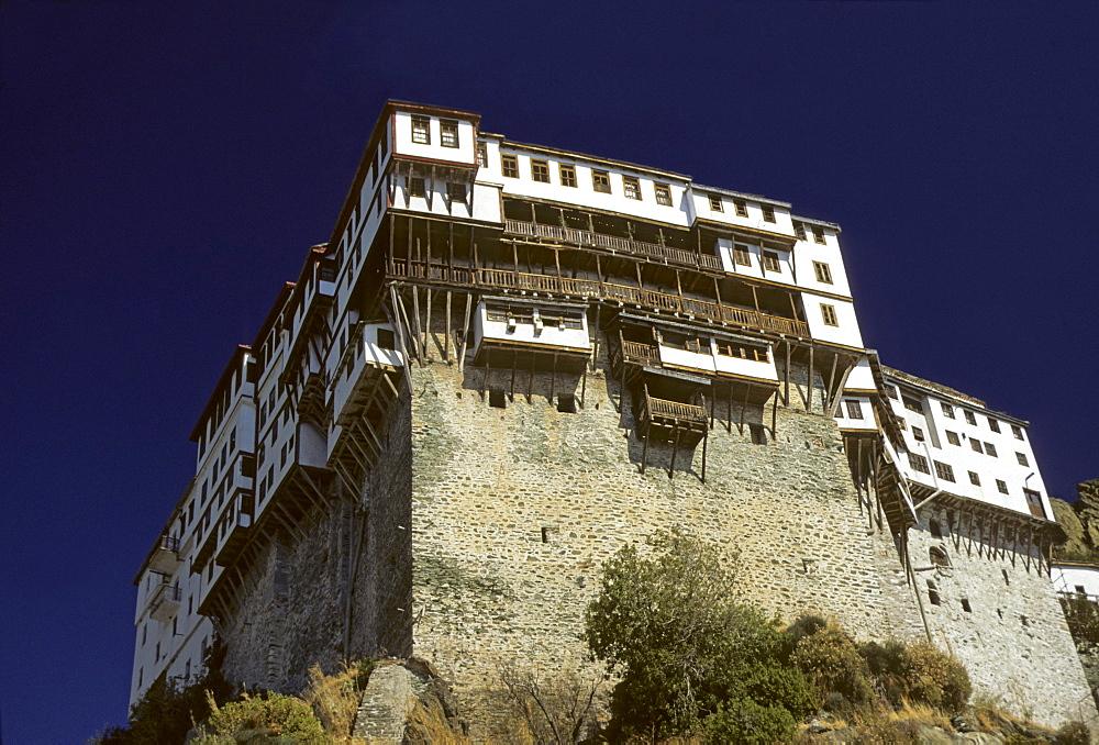 Dionysiu Monastery, Greek Orthodox monastery on Mount Athos (autonomous monastic state), Chalkidiki Peninsula, Greece