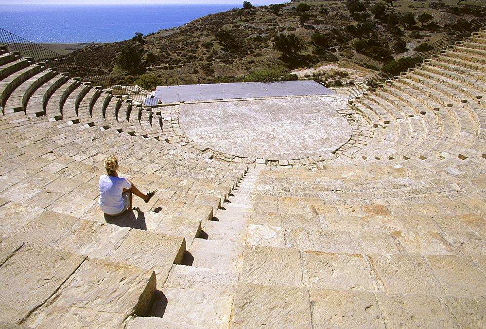 Greco-Roman amphitheatre in Kourion on the Akrotiri Peninsula, Cyprus