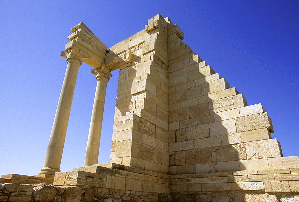 Temple of Hylates (later likened to Apollo) in Kourion, Cyprus