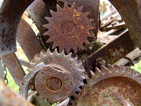 DEU, Germany : rusty cogwheel.