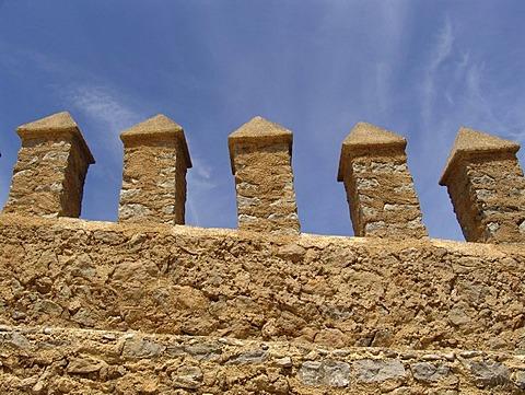 ESP, Spain, Balearic Islands, Mallorca, Arta : pinnacles of the castle of Arta.