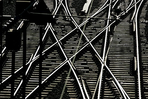 DEU, Federal Republic of Germany, Hamburg: German Railway, tracks at Hamburg main railway station.
