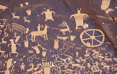 USA, United States of America, Utah: Newspaper Rock, Canyonland National Park.