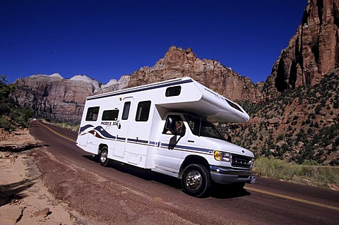 USA, United States of America, Utah: Capitol Reef National Park Traveliing in a Motorhome, RV, through the west of the US.