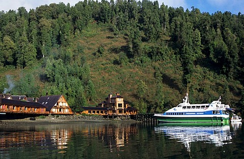 CHL, Chile, Patagonia: starting point for Patagonia tours, the Puyuhuapi hotel.