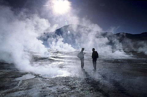 CHL, Chile, Atacama Desert: the geysers of El Tatio.
