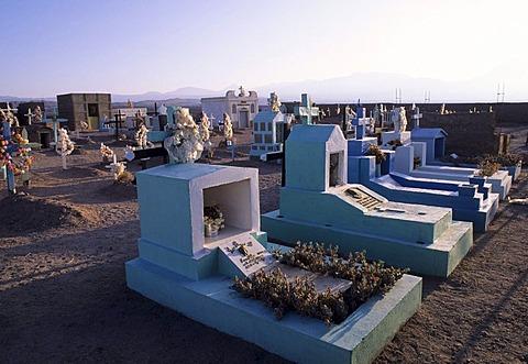 CHL, Chile, Atacama Desert: the cemetery of San Pedro de Atacama.