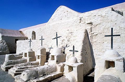 CHL, Chile, Atacama Desert: the oldest church of Chile, Chiu Chiu.