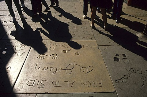 USA, United States of America, California: Los Angeles, Hollywood, walk of fame.