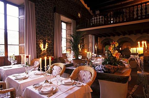 "ESP, Spain, Balearic Islands, Mallorca : the restaurant ""El Olivo"" near Deja."