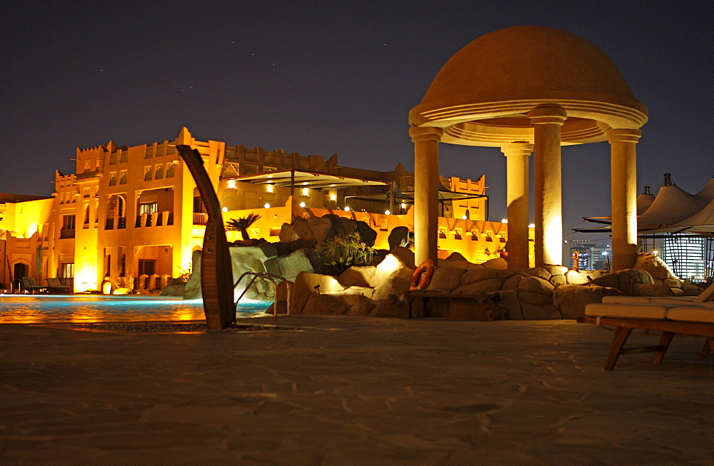 Ritz Carlton Sharq Village & Spa, 5 star luxury hotel, Arab desert village architecture, Doha, Qatar, Middle East