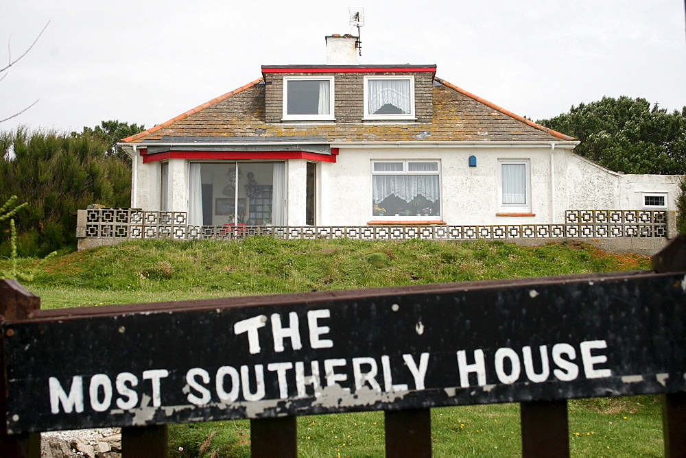 The most southerly house at the Lizard, Cornwall, UK.