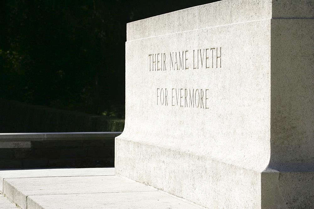 Memorial stone, english military cemetery, Cologne, North Rhine-Westphalia, Germany