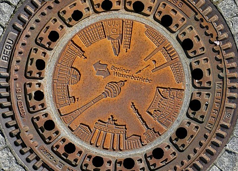 Manhole cover in Berlin, Germany