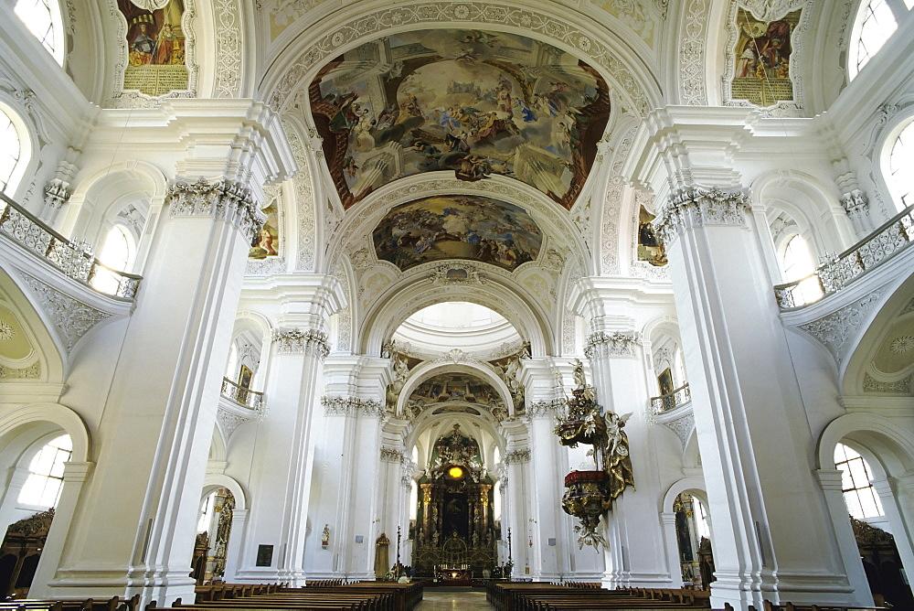 St. Martin's Basilica, Weingarten Benedictine abbey, Upper Swabia, Baden-Wuerttemberg, Germany, Europe