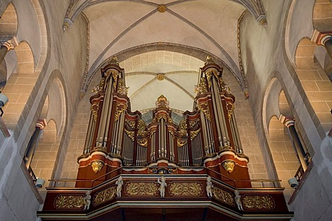 Organ of the Ludgerus basilica at Werden, Essen-Werden, NRW, Germany