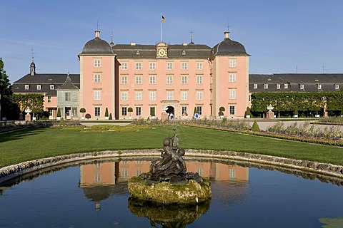 Castle Schwetzingen, view from the baroque gardens, Baden-Wuerttemberg, Germany