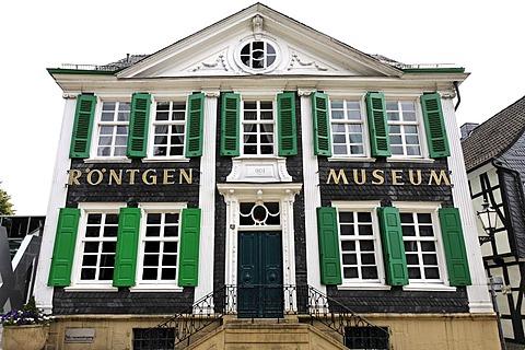 German Roentgen museum at the native town of Roentgen, Remscheid-Lennep, NRW, Germany