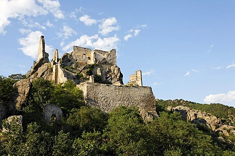 Ruin Duernstein, rock landscape, Wachau, Lower Austria, Austria