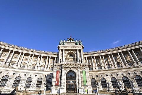 New Hofburg, view from the Burggarten, Vienna, Austria