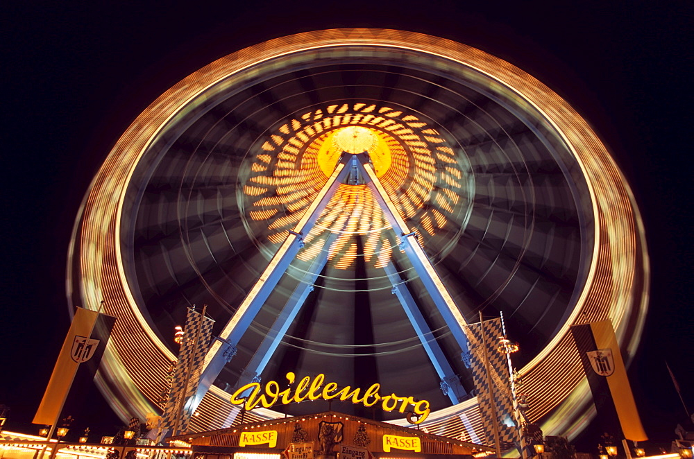 Amusement rides at Oktoberfest (Octoberfest Munich Beer Festival), Munich, Germany, Europe - 832-322422