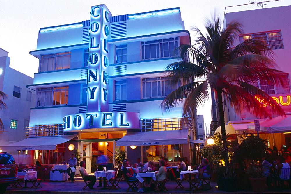 Colony Hotel on Ocean Drive, Miami Beach, Miami, Florida, USA
