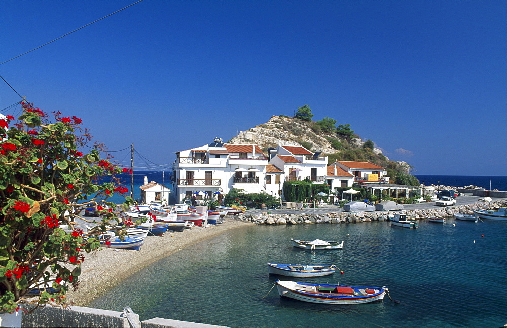Kokkari Harbour, Samos Island, Greece, Europe