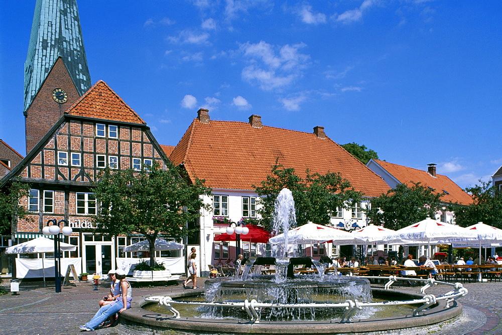 Market square, Eutin, Schleswig-Holstein, Germany, Europe