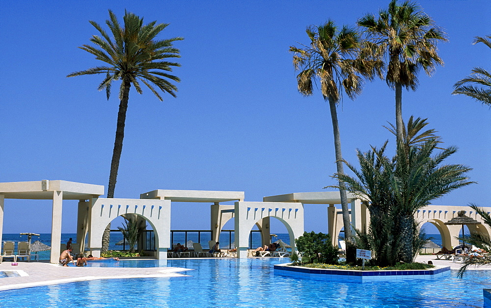 Swimming pool, Zita Resort Hotel, Zarzis, Djerba, Tunisia, Africa
