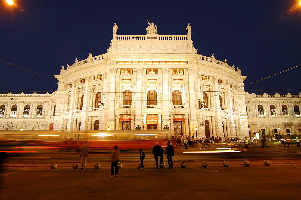 Burgtheater (Burg Theatre) in the evening, Vienna, Austria