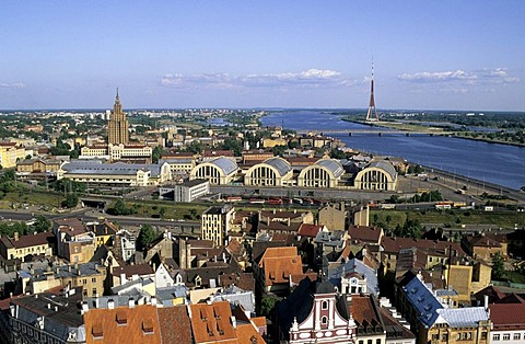 Panorama with Daugava River, Riga, Latvia, Baltic States