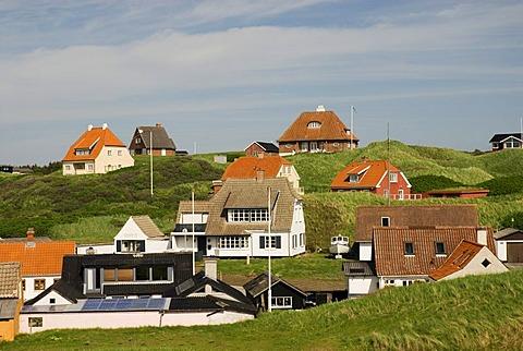 View over Loenstrup village, Jutland, Denmark